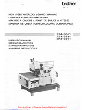 Brother EF4-B511 Instruction Manual