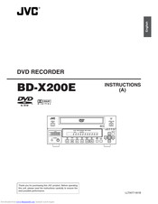 JVC BD-X200E Instructions Manual