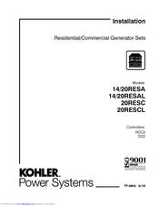 Kohler 14 20resal Installation Manual Pdf Download Manualslib