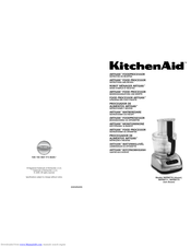 KitchenAid 5KFPM775 Instructions And Recipes Manual