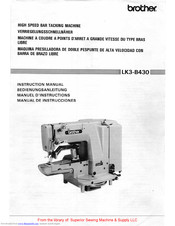Brother LK3-B430 Instruction Manual