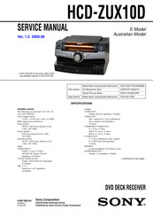 Sony HCD-ZUX10D Service Manual