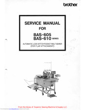 Brother BAS-610 Series Service Manual