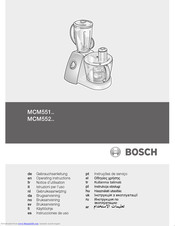 Bosch MCM552 SERIES Operating Instructions Manual
