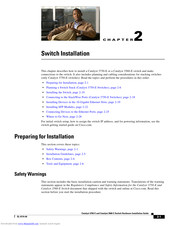 Casio Catalyst 3560-E Installation Manual