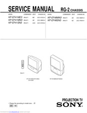 Sony KP-EF48SN3 Service Manual