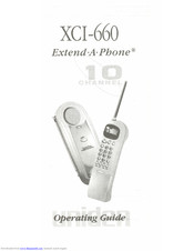 Uniden XCI-600 Operating Manual