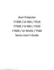 Acer F7200 Series User Manual