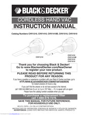 Black & Decker CHV1610 Instruction Manual