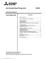 Mitsubishi Electric CAHV-P500YA-HPB Instruction Manual