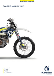 Husqvarna FE 450 Owner's Manual