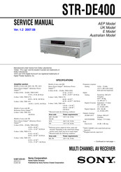 Sony STR-DE400 Service Manual