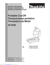 Makita 2414DB Instruction Manual