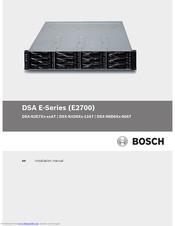 Bosch DSA E-Series (E2700) Installation Manual