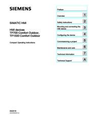 Siemens Simatic Tp1500 Comfort Outdoor Manuals Manualslib