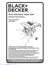 Black & Decker JT2504BD Instruction Manual