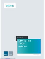 Siemens Simatic Hmi Tp900 Manuals Manualslib