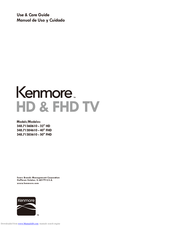 Kenmore 348.71384610 Use & Care Manual