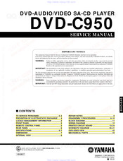 Yamaha DVD-C950 Service Manual
