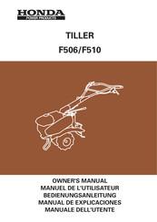 Honda f510 manuals.