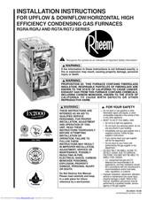 Rheem furnace manual de servicio rgv mod