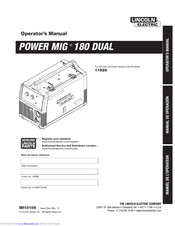 Lincoln Electric Pro Mig 180 Manuals Manualslib