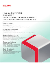 Canon IMAGERUNNER ADVANCE C5045 User Manual