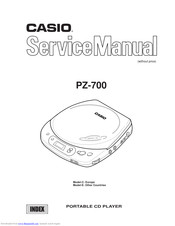 Casio PZ-700 Service Manual