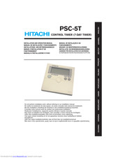 Hitachi PSC-5T Installation And Operation Manual