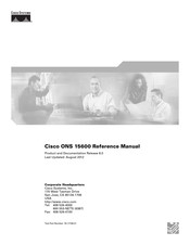Cisco ONS 15600 Reference Manual