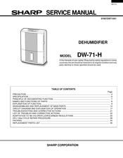 Sharp DW-71-H Service Manual