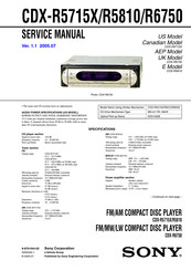 Sony Cdx R5715x Service Manual Pdf