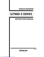 Hitachi SJ700D-220H Instruction Manual