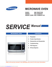 Samsung MC17F808KDT Service Manual
