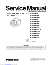 Panasonic HDCSX5P - HD VIDEO CAMERA Service Manual