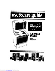 Whirlpool RE960PXV Use & Care Manual