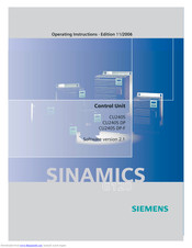 Siemens CU240S DP-F Operating Instructions Manual