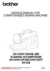 Brother NS-10 Service Manual