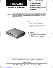 Hitachi DV-P250A/AU Service Manual