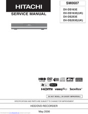 Hitachi DV-DS163E/UK Service Manual