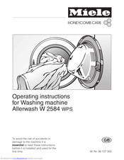 Miele Allerwash W 2584 WPS Operating Instructions Manual