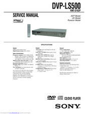 Sony DVP-LS500 Service Manual