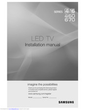 Samsung HG32AB670BJXXZ Installation Manual