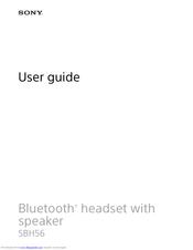 Sony Sbh56 User Manual Pdf Download Manualslib