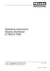 Miele G 7826 Operating Instructions Manual