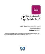 HP StorageWorks Edge Switch 2/12 Service Manual