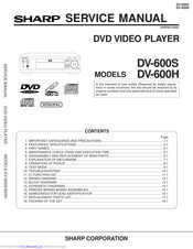 Sharp DV-600H Service Manual