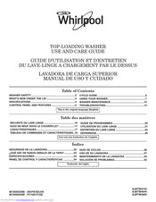 Whirlpool 3LWTW4740 Use And Care Manual