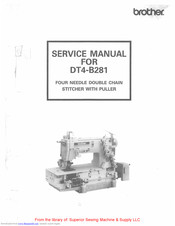 Brother DT4-B281 Service Manual