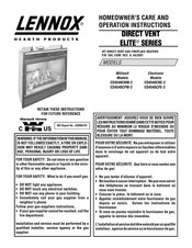 Lennox Ed4540cpm 2 Manuals